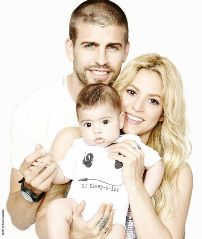 Shakira, Gerard Piqué et leur fils Milan