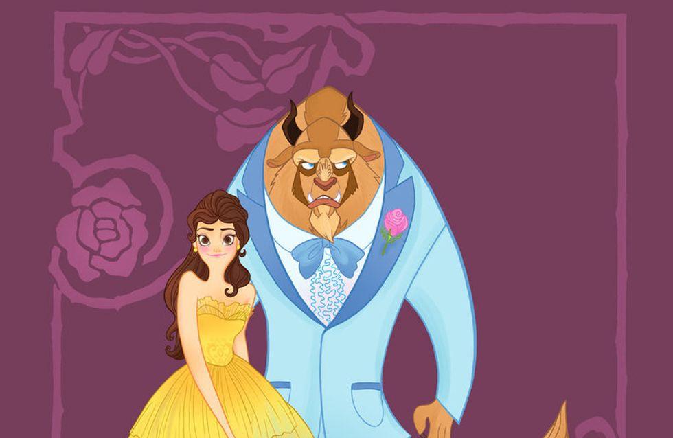 Les princesses Disney enfilent leurs robes de bal de promo !