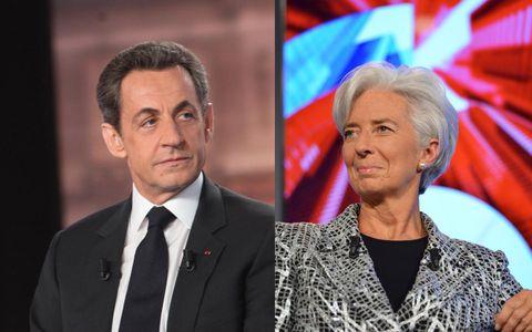 Christine Lagarde et Nicolas Sarkozy