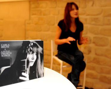 Carla Bruni, lors de son interview chez aufeminin