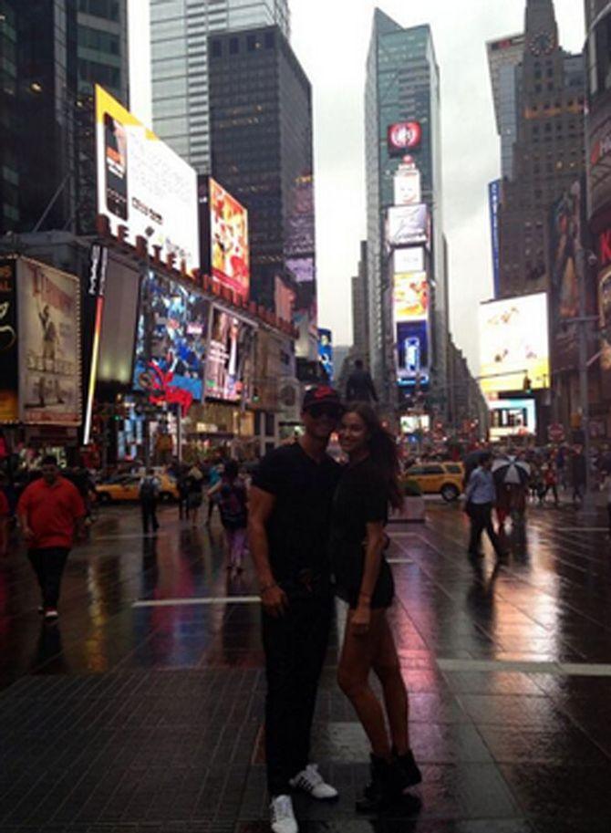 Cristiano Ronaldo e Irina Shayk en Nueva York
