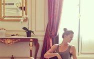 Gisele Bündchen : Elle fait du yoga avec son bébé (Photos)