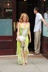 Kylie Minogue dans les rues de New York mardi