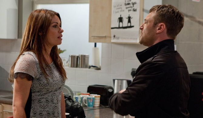 Carla's unimpressed with Rob's behaviour