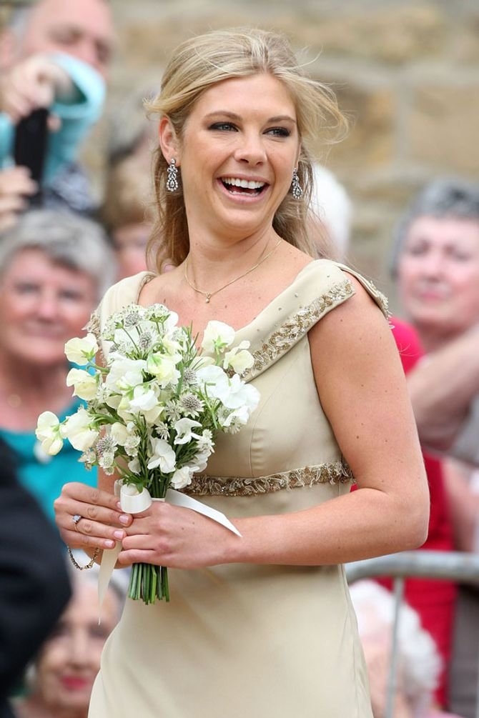 Chelsy Davy as a bridesmaid