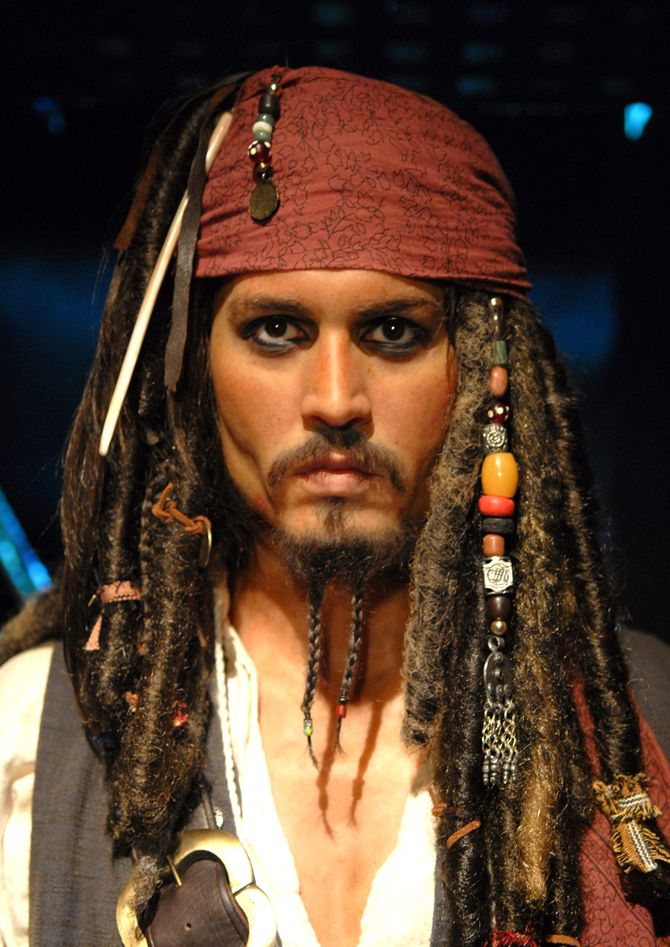Johnny Depp als Wachsfigur Jack Sparrow bei Madame Tussauds in London