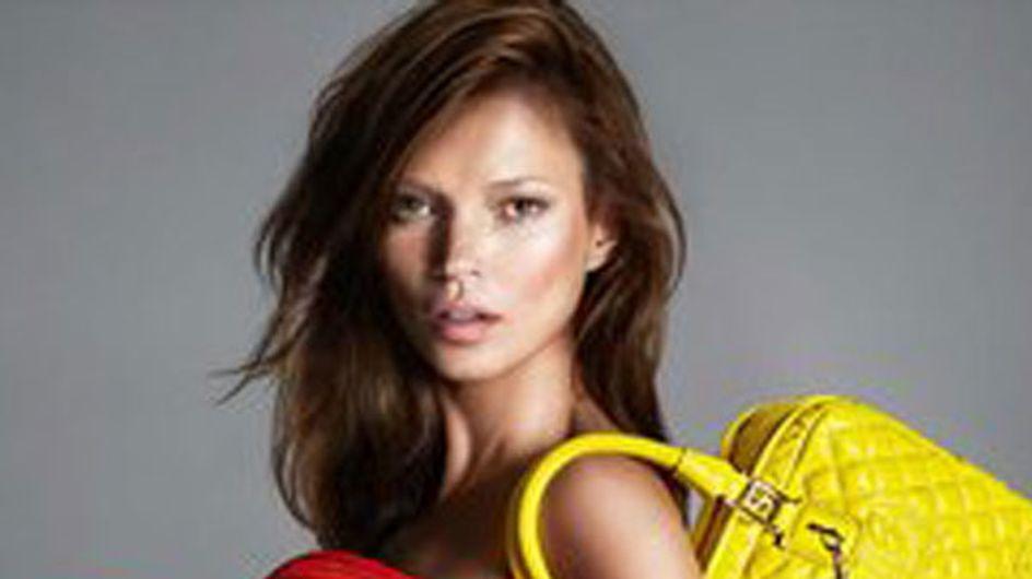 Kate Moss hair: Model goes brunette for Versace
