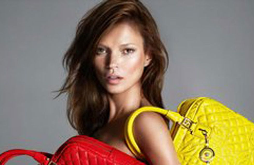 Kate Moss hair: Model goes brunette for Versace