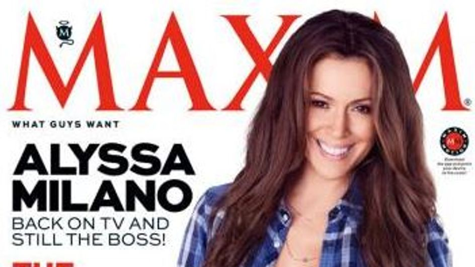 Alyssa Milano : Sexy et sans soutien-gorge pour Maxim (Photo)