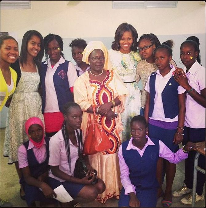 Michelle Obama et sa fille Malia au Sénégal