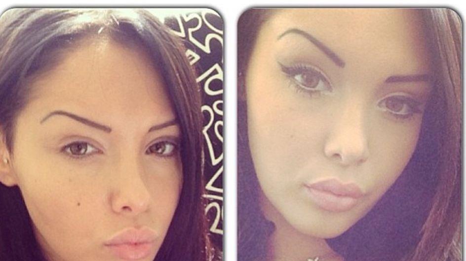 Nabilla : Ses photos avant-après maquillage !