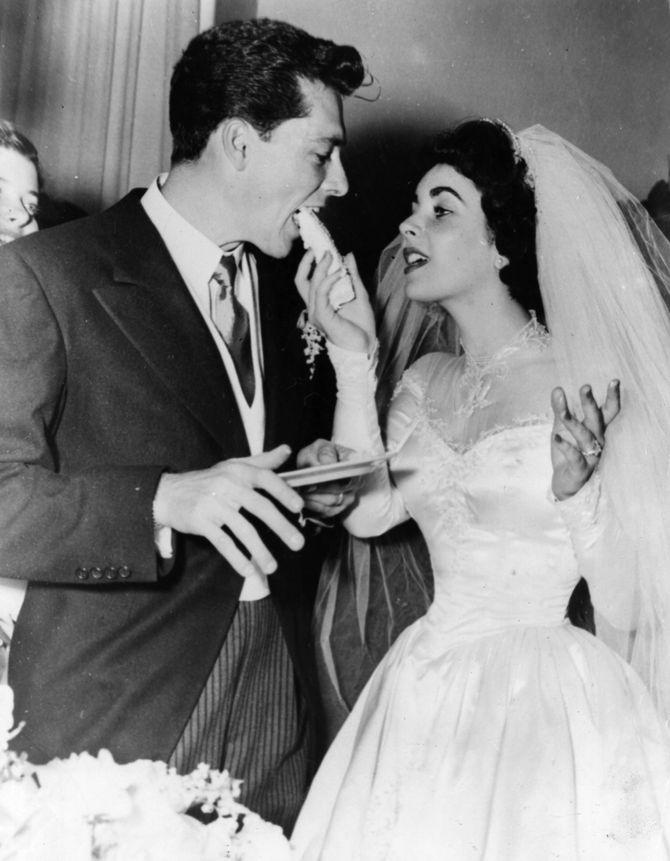 Liz Taylor & Conrad Hilton 1950