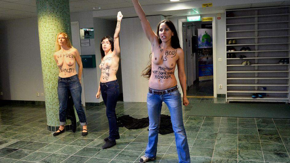 Suède : Trois Femen seins nus dans une mosquée