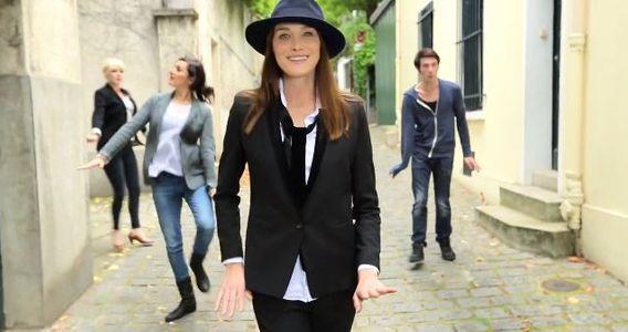 "Carla Bruni dans son clip ""le Pingouin"""