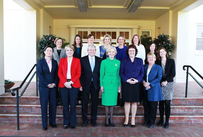 Kevin Rudd et les femmes de son gouvernement