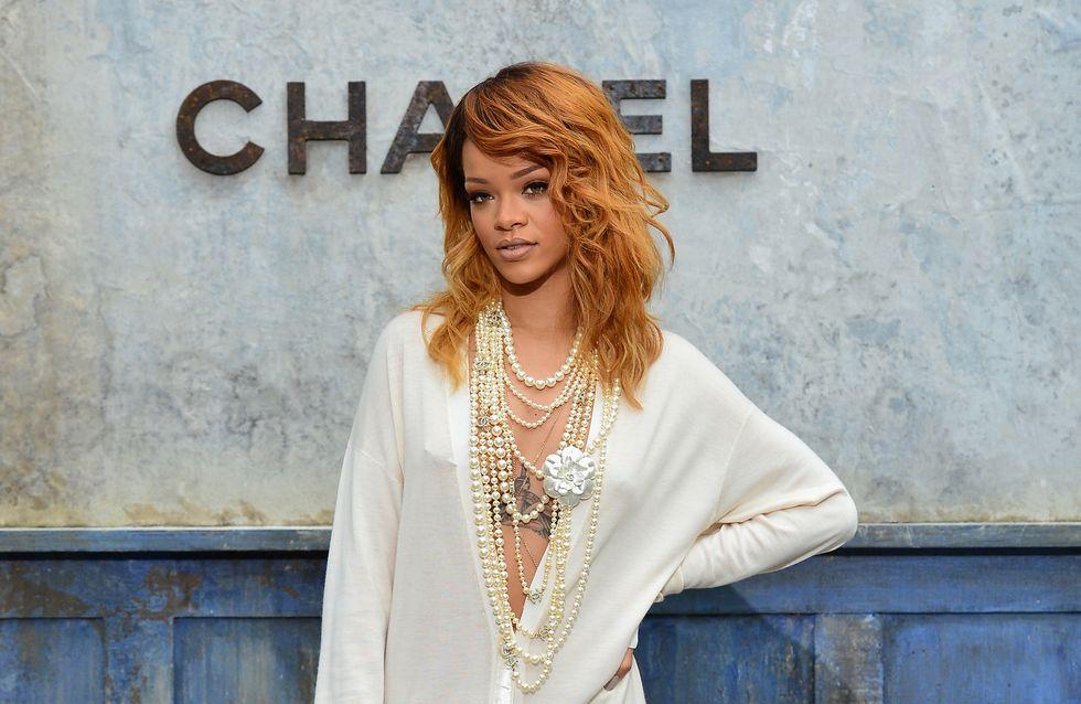 Rihanna : Un style romantique au défilé Chanel (Photos)