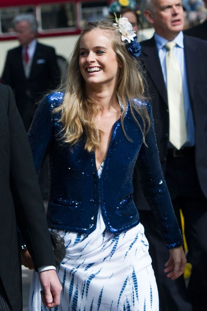 Cressida Bonas at the wedding
