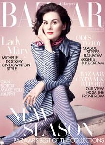 Michelle Dockery on the cover of Harper's Bazaar