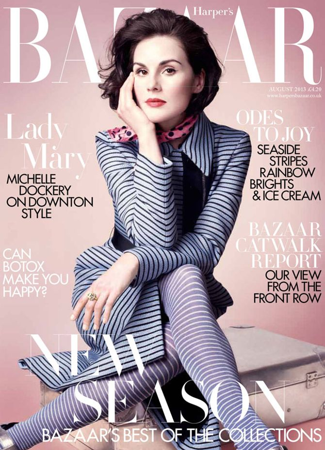 Michelle Dockery on the cover of Harper's Bazaar