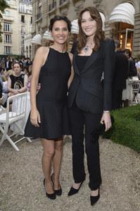 Carla Bruni-Sarkozy et Virginie Ledoyen à la soirée Bulgari