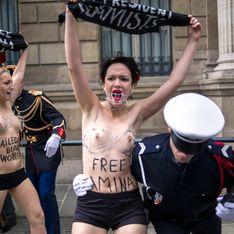 Trois Femen ont tenté de manifester devant l'Elysée