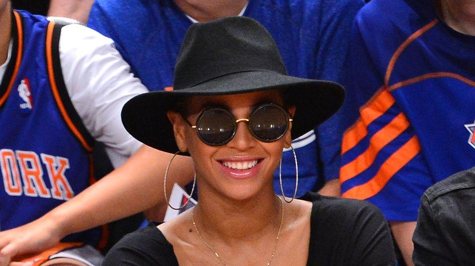 Beyoncé : Un burger oui, mais avec du champagne (Photos)