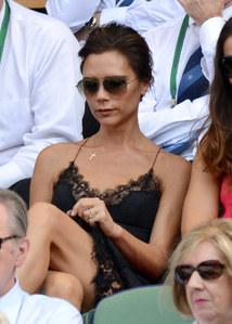 Victoria Beckham en nuisette à Wimbledon
