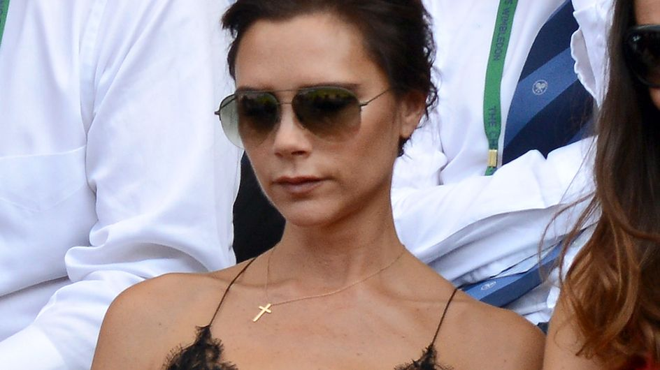 Victoria Beckham : En nuisette à Wimbledon (Photos)