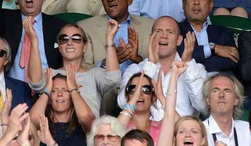 Zara Phillips and Mike Tindall enjoying Murray's win