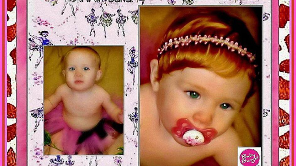 Un site de vente en ligne propose des perruques pour bébé...