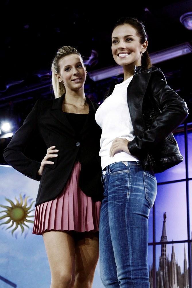 Le veline Giulia Calcaterra e Alessia Reato
