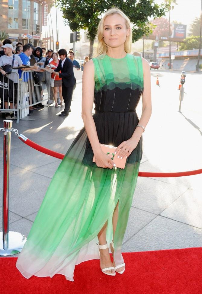 Diane Kruger en robe transparente