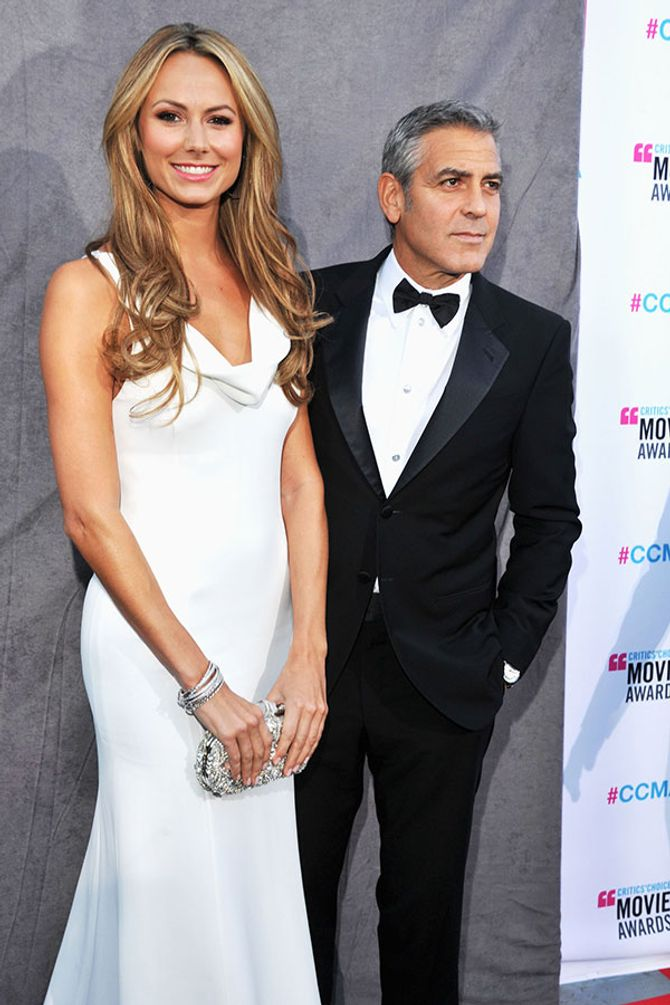 George Clooney and Stacey Keibler