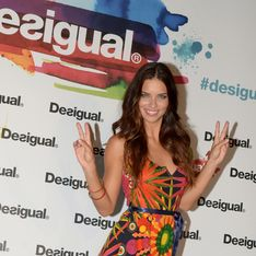 Adriana Lima : Un look 100% Desigual (Photos)