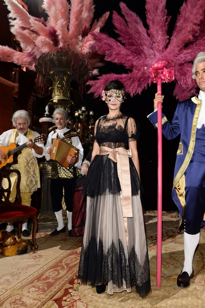 Audrey Tautou au bal masqué de Dolce&Gabbana