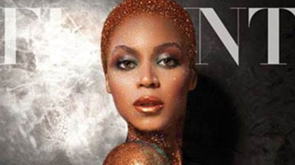 Beyonce bares all in gold body paint photo shoot