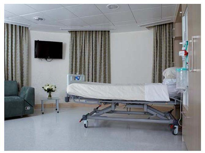 Una de las habitaciones del hospital St. Mary