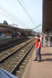 Un train déraille à Brétigny