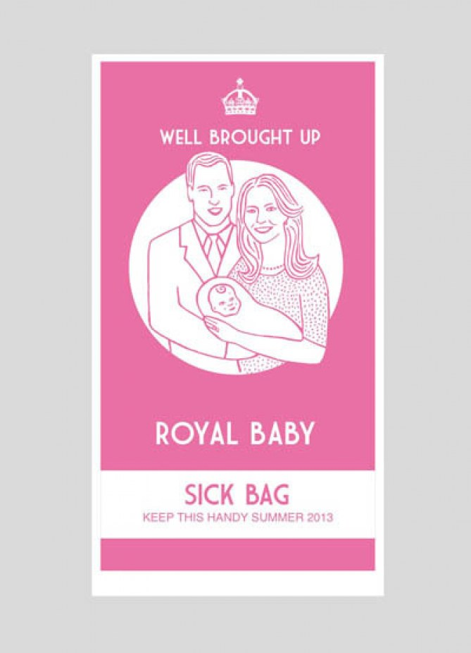 Le sac à vomi version rose