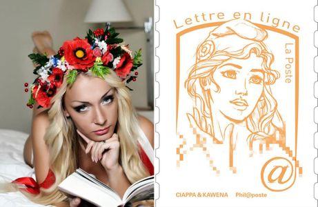 La leader Femen : La muse du nouveau timbre « Marianne »