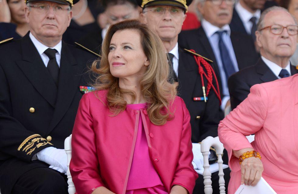 Valérie Trierweiler : Chic en rose bonbon pour le 14 juillet (Photos)