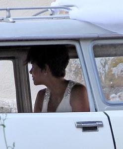 Halle Berry, con su vestido de novia