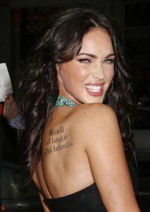 Megan Fox tatouages