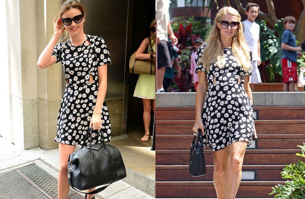 Miranda Kerr VS Paris Hilton : Qui porte le mieux la robe fleurie ?