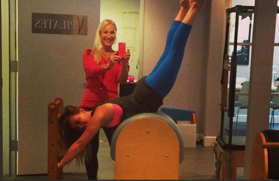 Hilary Duff : En pleine séance de Pilates ! (Photos)