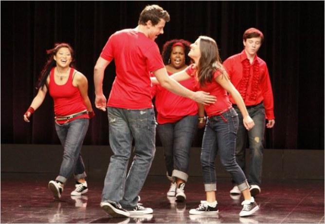 Cory Monteith et Lea Michele (Glee)