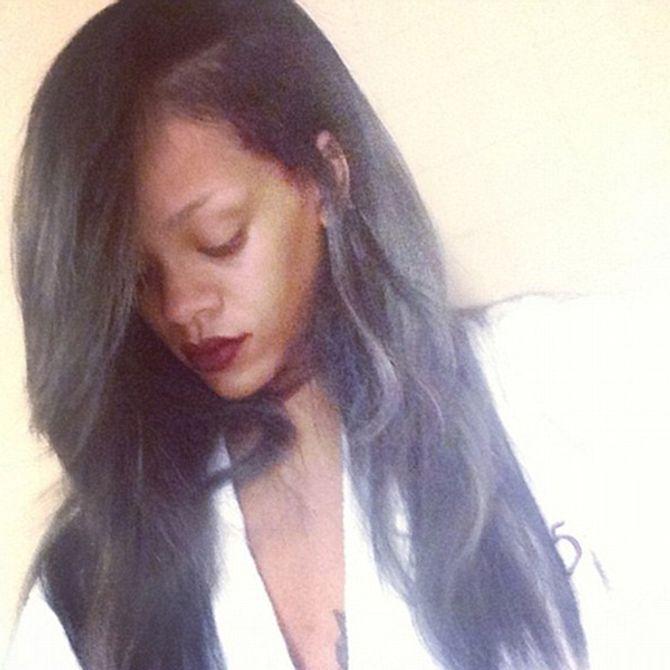 Rihanna's grey hair