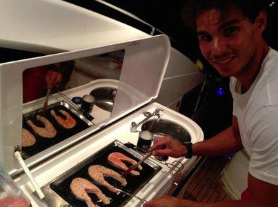 Rafael Nadal hecho todo un chef