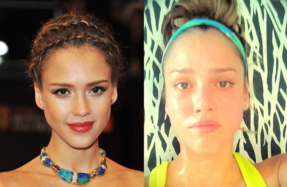 Jessica Alba : Sans maquillage, ça donne ça ! (Photos)