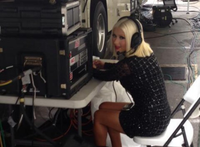 Christina Aguilera super mince